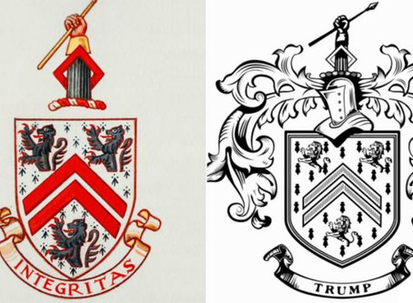 Trump and his coat of arms