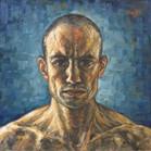 Autoportrait Maxence Raffi (peinture à l'huile)