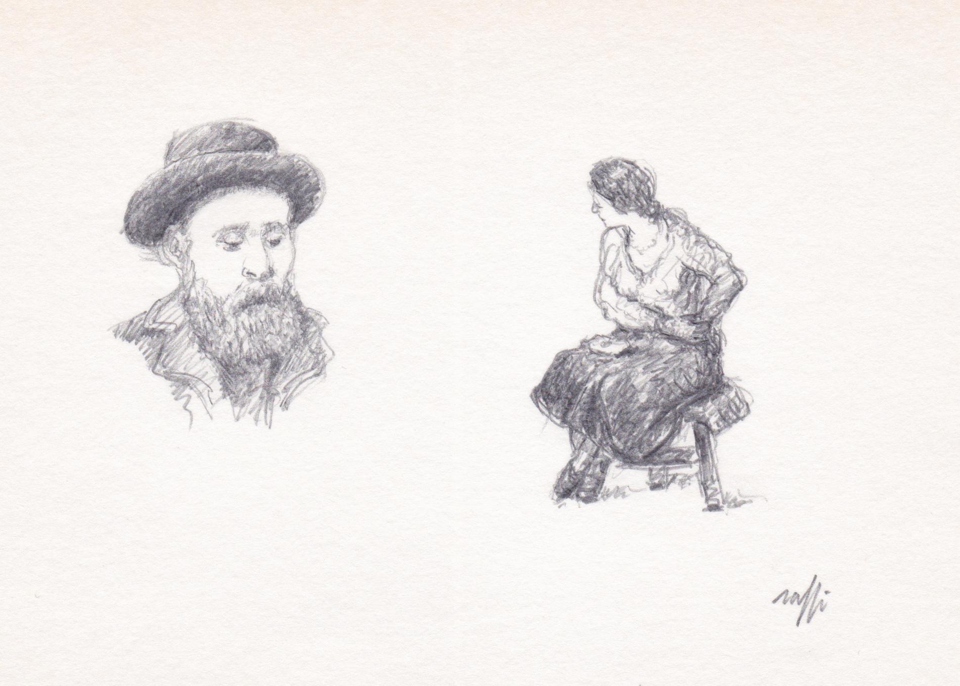 Portrait de Vuillard et étude (Vuillard)