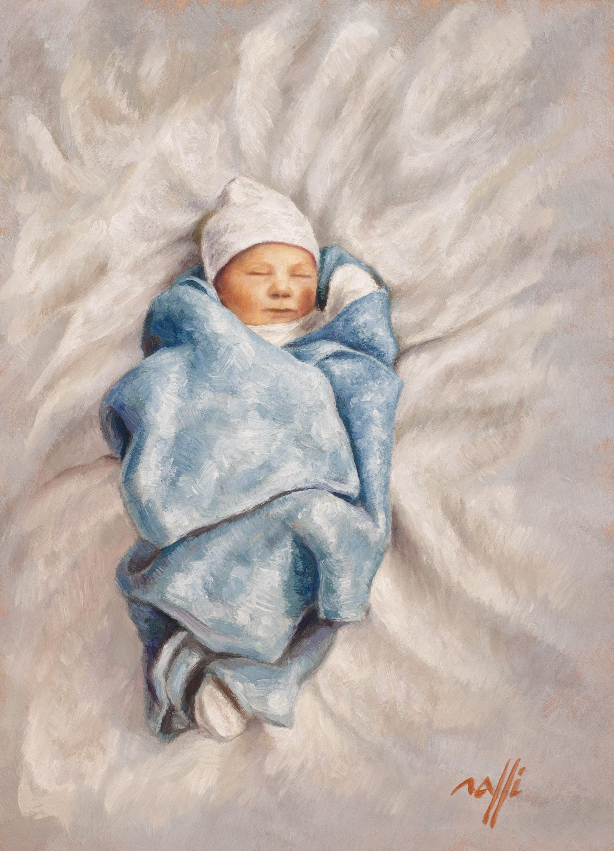 Edgar à la couverture bleue