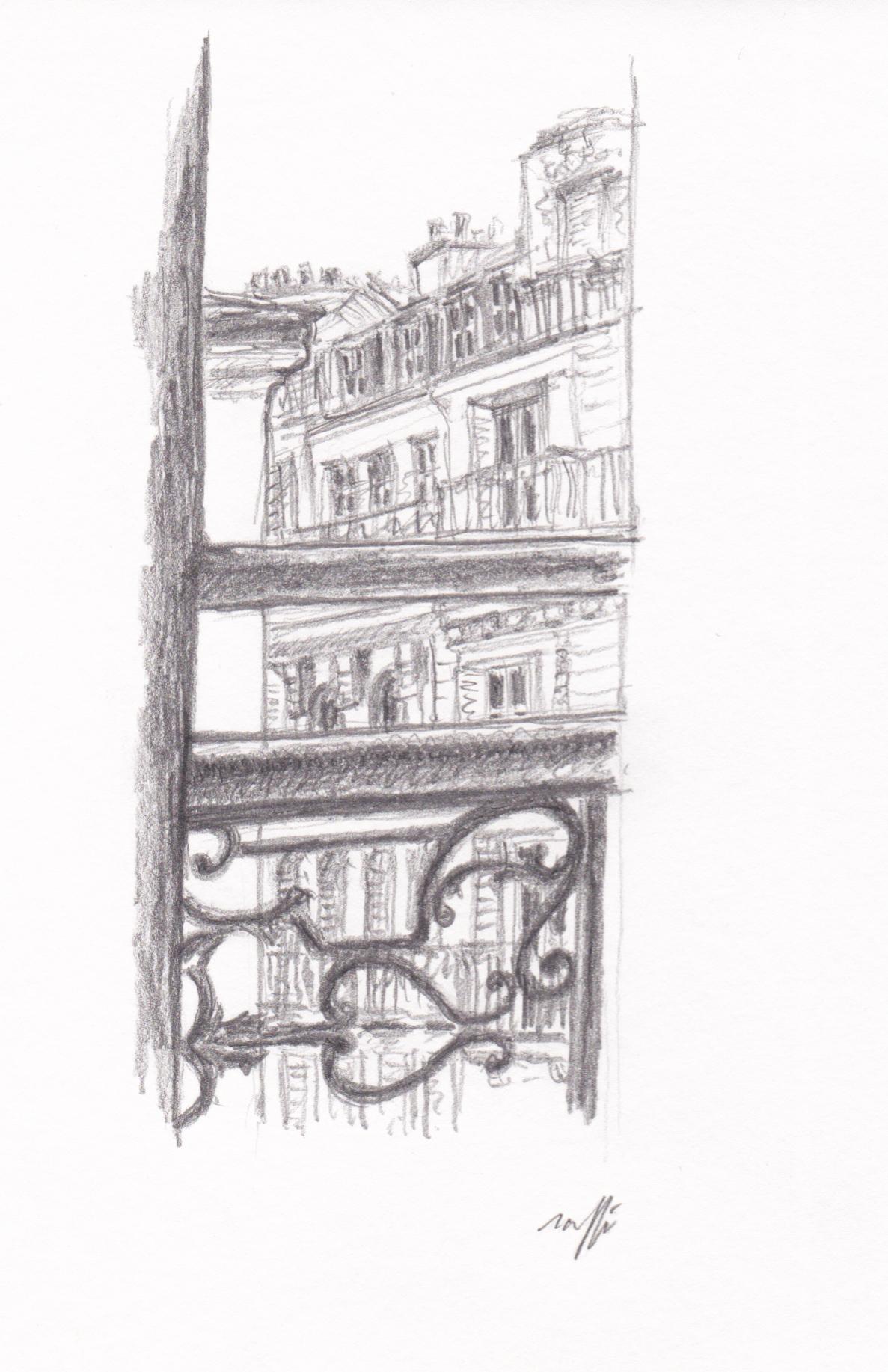 Vue de la fenêtre du salon (rue Laugier)