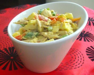 Куриный салат с тхиной