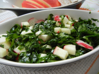 Салат из кейла с сыром