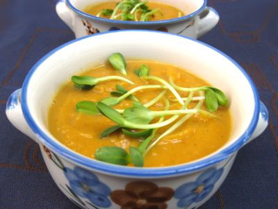 Суп с репой и бататами