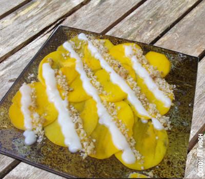 Карпаччо из манго