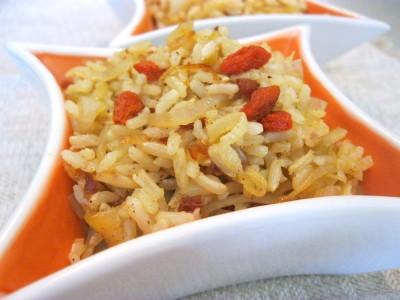 Цельный рис с клюквой