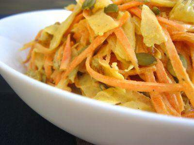 Морковный салат с тхиной
