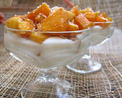 Десерт из яблок с тыквой