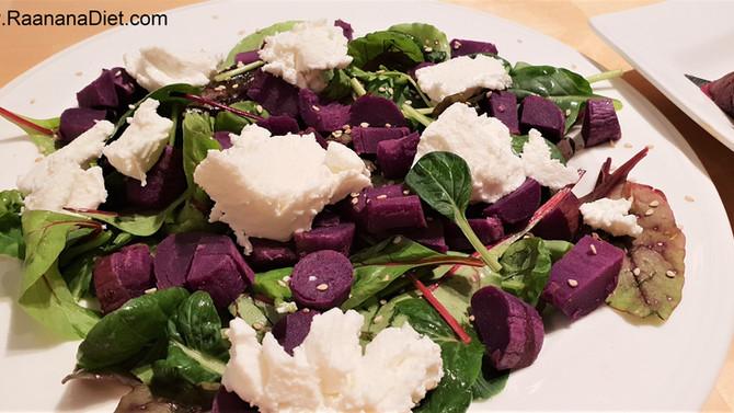 Салат с фиолетовыми бататами и рикоттой 💜