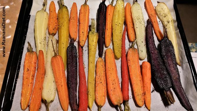 Цельная морковь, запеченная с тимьяном