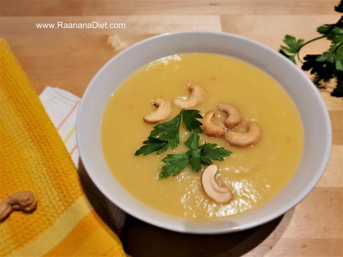 Пикантный суп 🍲 из желтой чечевицы с кешью