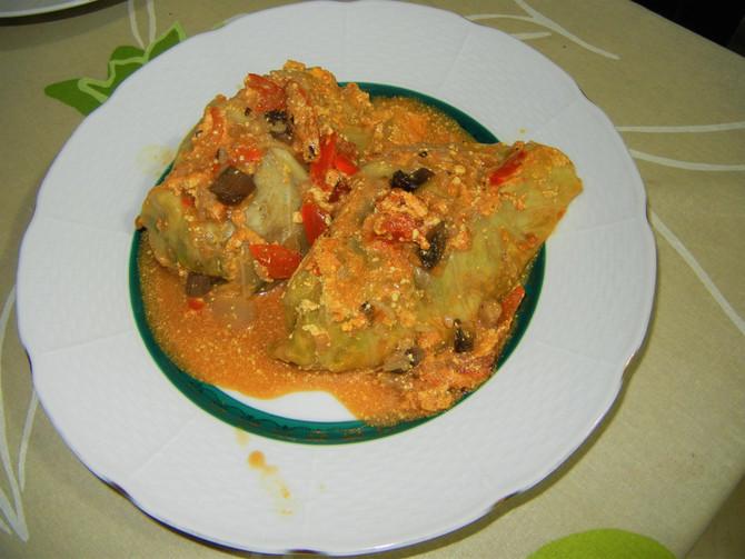 Голубцы из цельного риса с портобелло