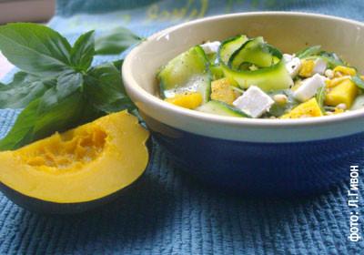 Салат из тыквы, кабачков и сыра