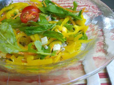 Овощной салат с перловой крупой