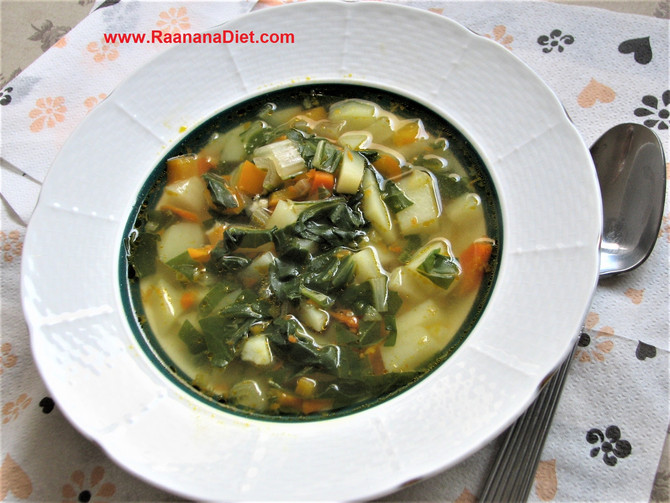 Суп с мангольдом
