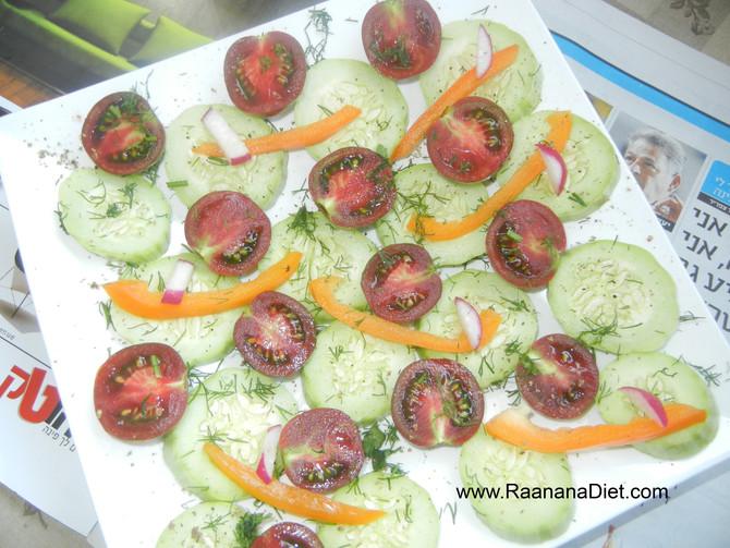 Салат с арабским огурцом
