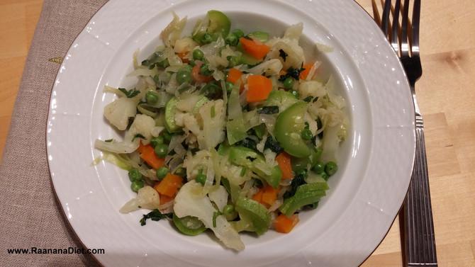 Зеленое овощное соте