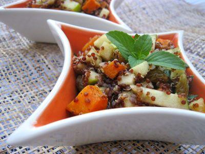 Салат с печеными бататами
