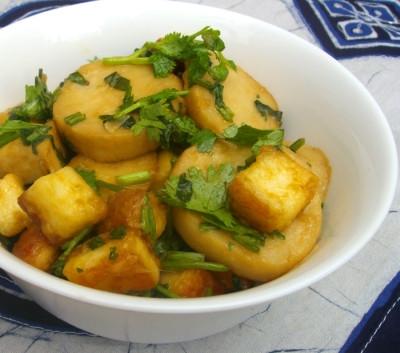 Салат из устричных грибов