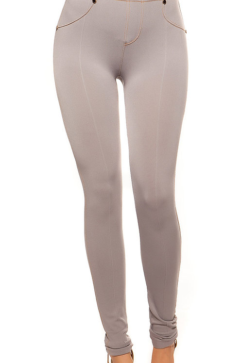 Sexy Jeanslook-Leggings mit Knöpfen