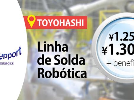 Toyohashi: Linha de Solda Robótica | ¥1,250~¥1,300/h