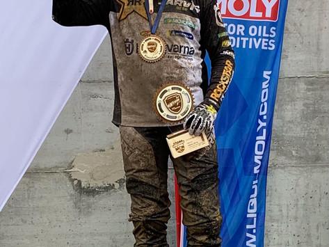 Graham Jarvis' Husqvarna Rockstar team rider Grant Churchward repeated his success!