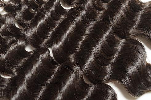 Loose deep curly black human hair weaves