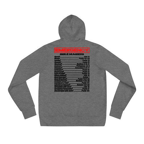 EMERGENCY BIBLE NUMBERS Unisex hoodie
