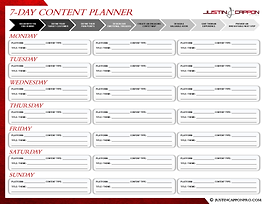 SOCIAL MEDIA MAPPING PLANNER - 7-Day Con