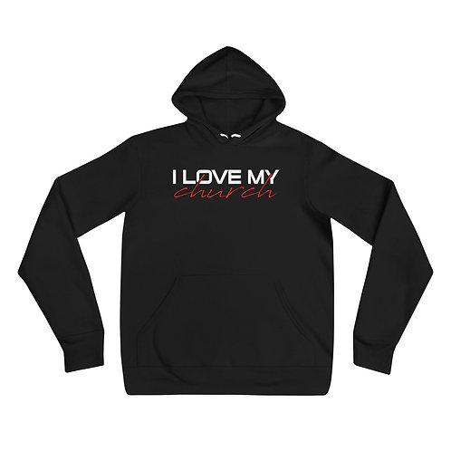 I LOVE MY CHURCH Unisex hoodie Black
