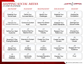 SOCIAL MEDIA MAPPING PLANNER - 30-Day Ou