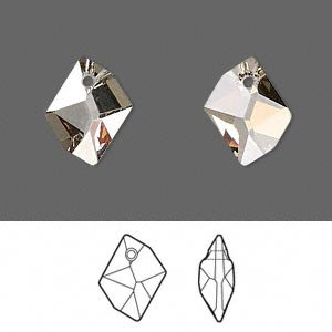 Focal, Swarovski® crystals, 40x32mm faceted