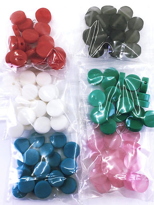 12mm recycled plastic coin beads