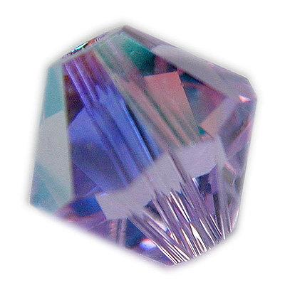Swarovski 4mm bicone crystal -Violet AB