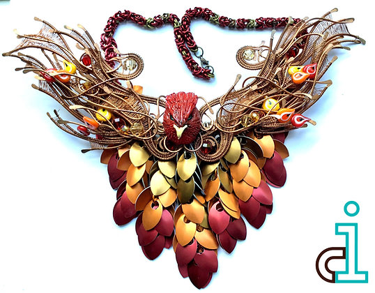 Phoenix Rising Bib Necklace