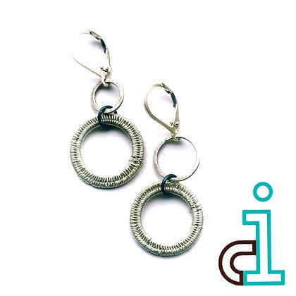 Circle Drop Bubble Earrings