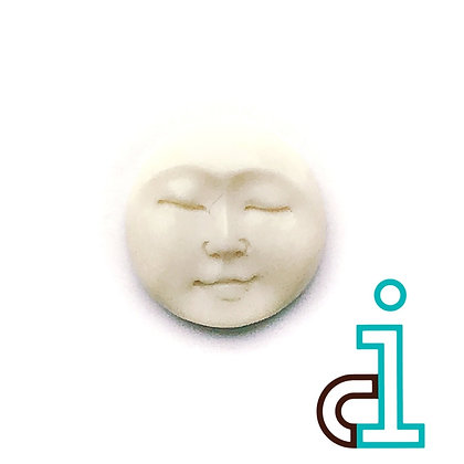 Bali Round face #13- hand carved