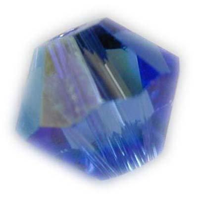 Swarovski 6mm bicone crystal -Sapphire AB