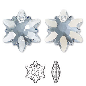 Swarovski, 14mm  edelweiss  pendant - 2 option