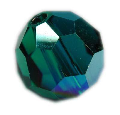 Swarovski 6mm round crystal - Emerald AB