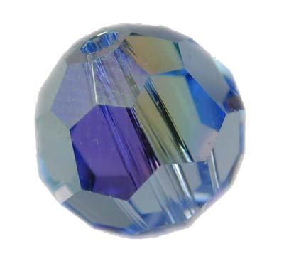 Swarovski 6mm round crystal - Light Sapphire AB
