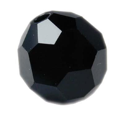 Swarovski 6mm round crystal - Jet  Hematite