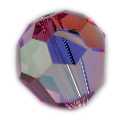 Swarovski 6mm crystal round bead - Rose AB