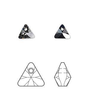 Swarovski, 8mm  triangle  pendant - 3 option