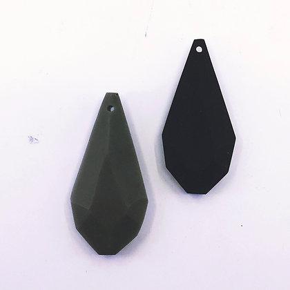 "1 7/8"" recycled  plastic pendant"