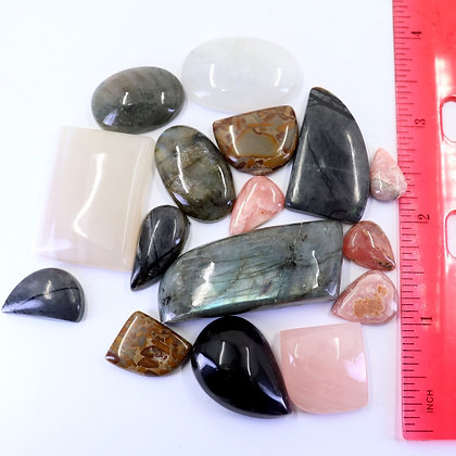 ASSORTED GEMSTONES- Lot#1- CABOCHON