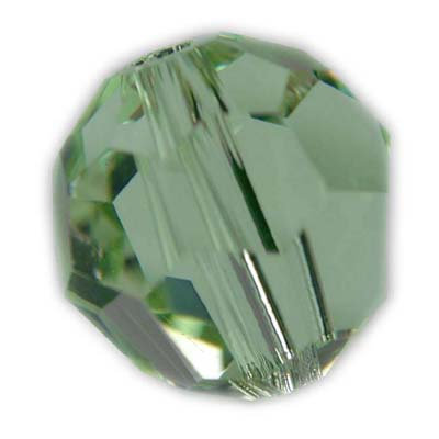 Swarovski 6mm round crystal -Chrysolite