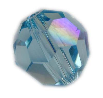 Swarovski 6mm round crystal - Aquamarine AB