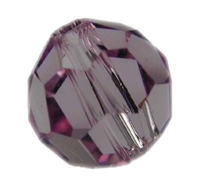 Swarovski 4mm round crystal - Light Amethyst