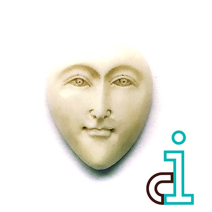 Bali Elongated face #12- hand carved